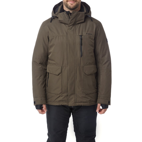 Vertigo Mens Waterproof Insulated Ski Jacket - Dark Khaki