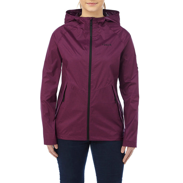 Vettel Womens Performance Waterproof Jacket - Dark Purple image 2
