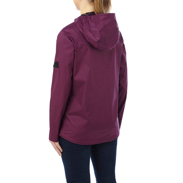 Vettel Womens Performance Waterproof Jacket - Dark Purple image 3