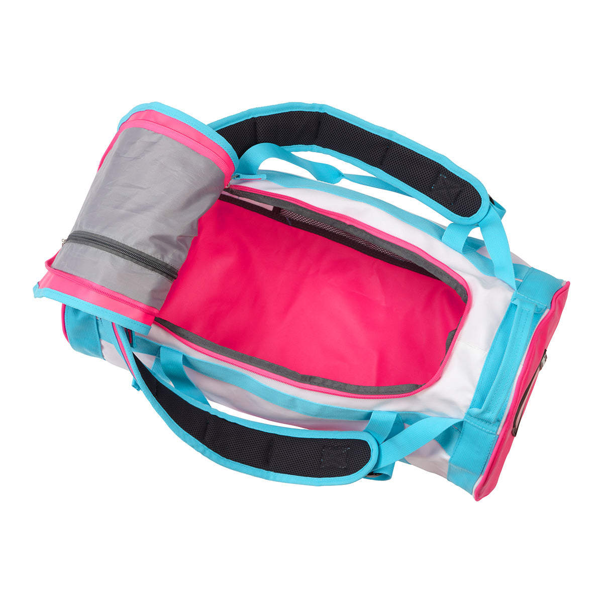 Stow 30L Packaway Duffle - White/Sky/Neon image 4