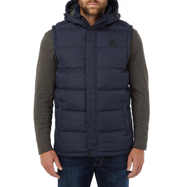 Worth Mens TCZ Thermal Gilet - Navy image 2