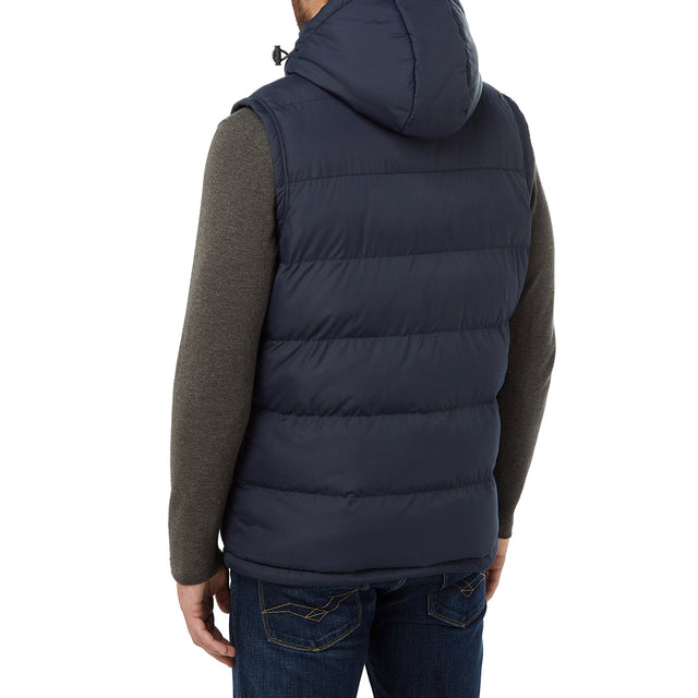 Worth Mens TCZ Thermal Gilet - Navy image 3