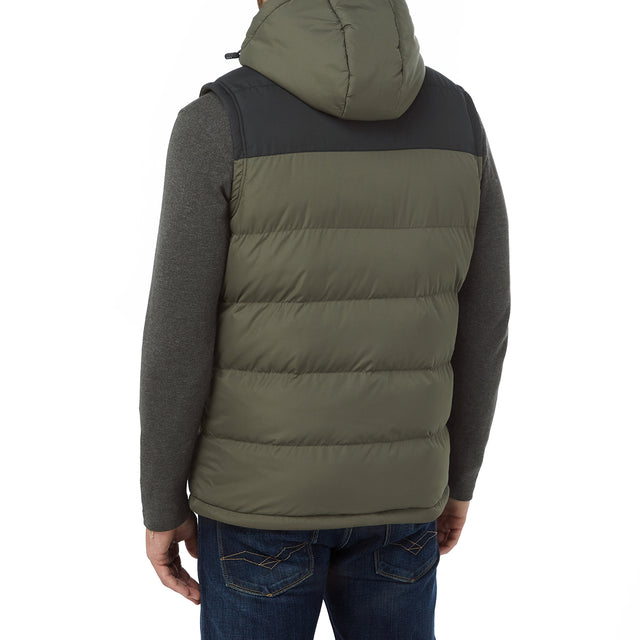 Worth Mens TCZ Thermal Gilet - Dark Khaki/Black image 3