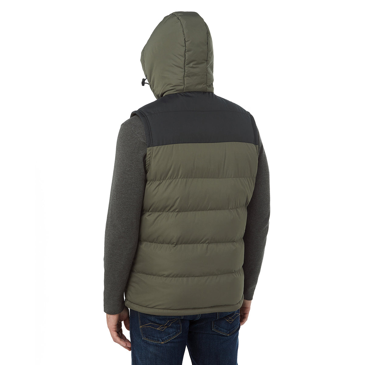 Worth Mens TCZ Thermal Gilet - Dark Khaki/Black image 4