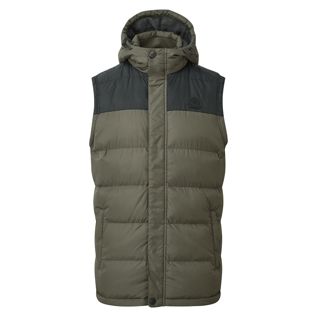 Worth Mens TCZ Thermal Gilet - Dark Khaki/Black image 1