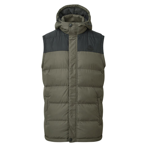 Worth Mens TCZ Thermal Gilet - Dark Khaki/Black