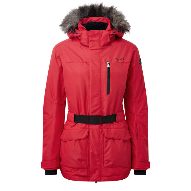 Aria Womens Waterproof Insulated Ski Jacket - Rouge image 5