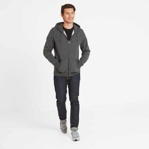 Atkin Mens Hoody - Dark Grey Marl