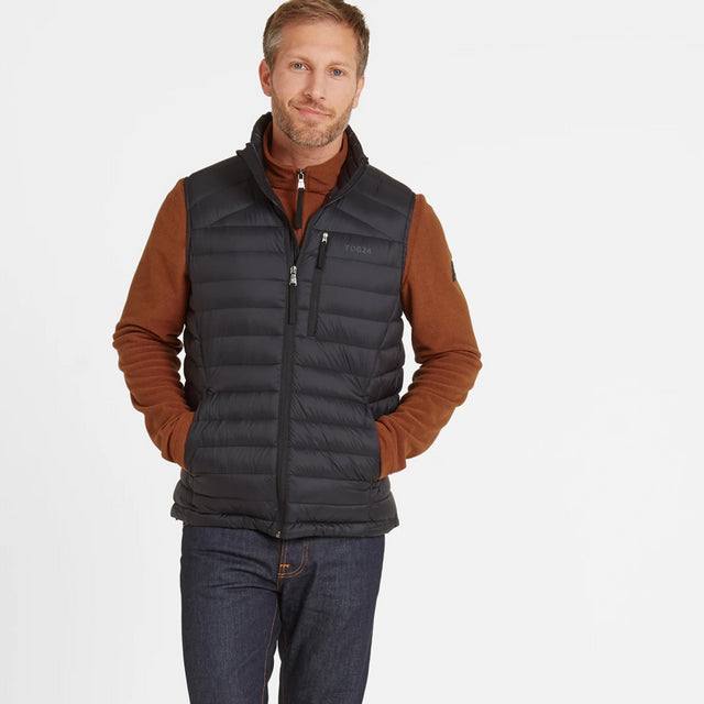 Base Mens Down Gilet - Coal Grey image 1