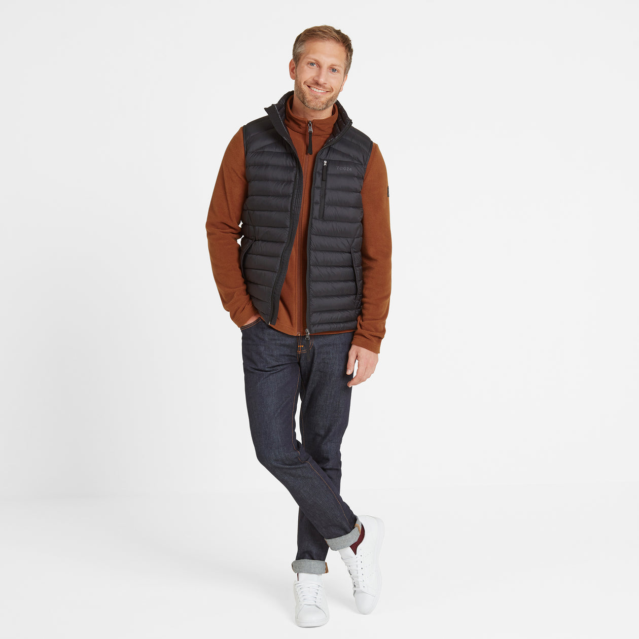 Base Mens Down Gilet - Coal Grey image 4