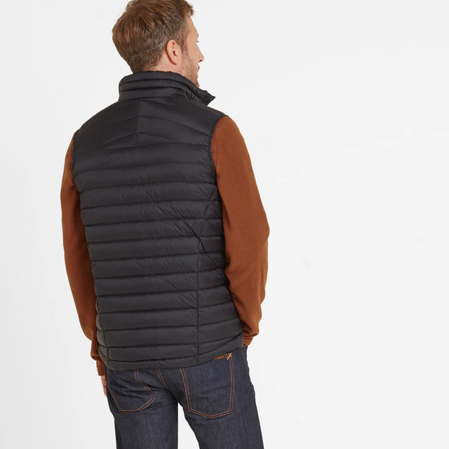 Base Mens Down Gilet - Coal Grey image 2