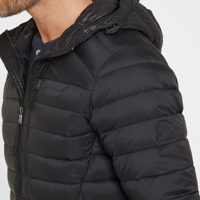 Base Mens Hooded Down Jacket - Coal Grey image 5