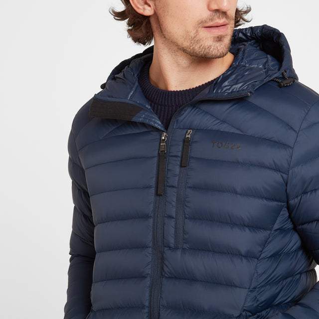 Base Mens Hooded Down Jacket - Dark Indigo image 5