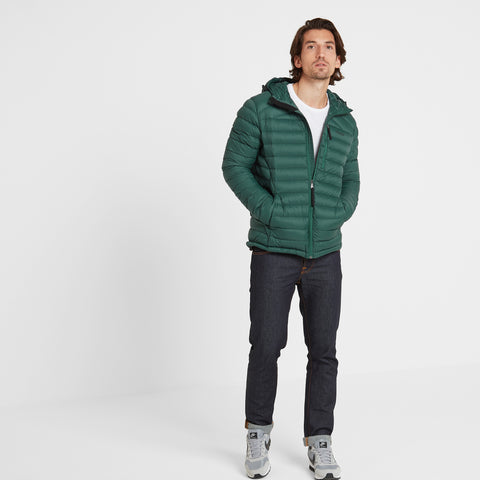 Base Mens Hooded Down Jacket - Forest