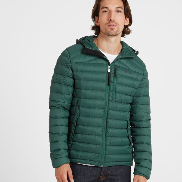 Base Mens Hooded Down Jacket - Forest image 1