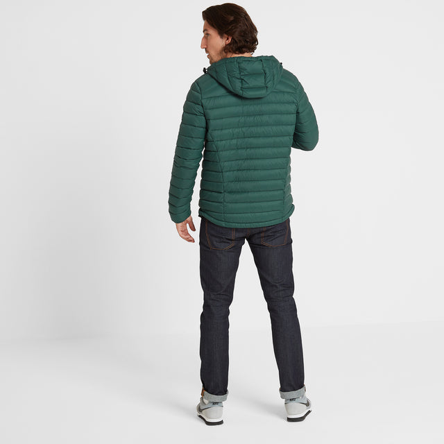 Base Mens Hooded Down Jacket - Forest image 3