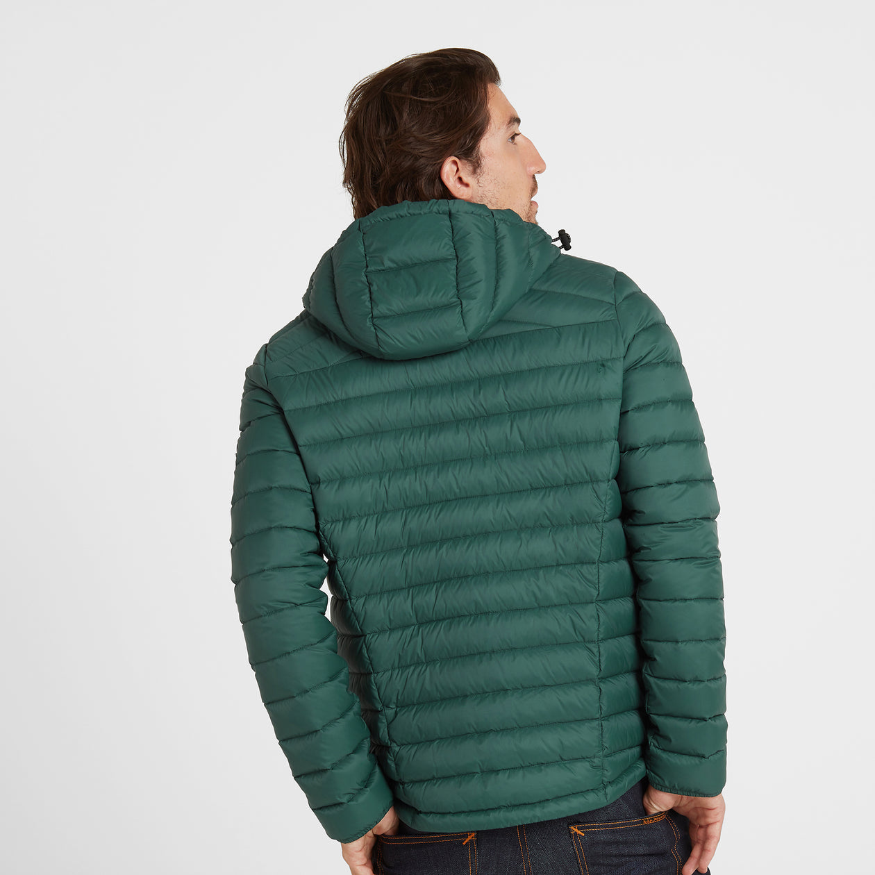 Base Mens Hooded Down Jacket - Forest image 4