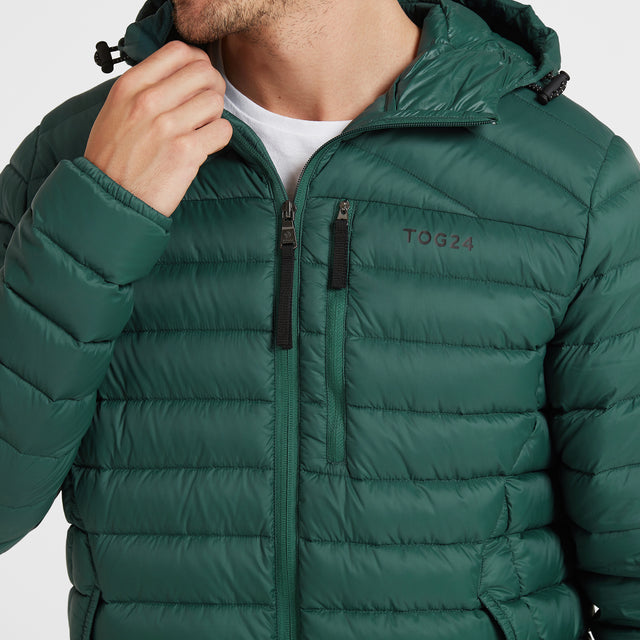 Base Mens Hooded Down Jacket - Forest image 5