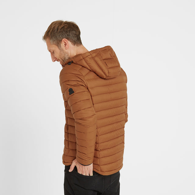 Base Mens Hooded Down Jacket - Amber image 3