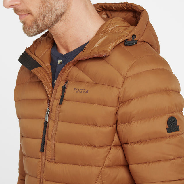 Base Mens Hooded Down Jacket - Amber image 5