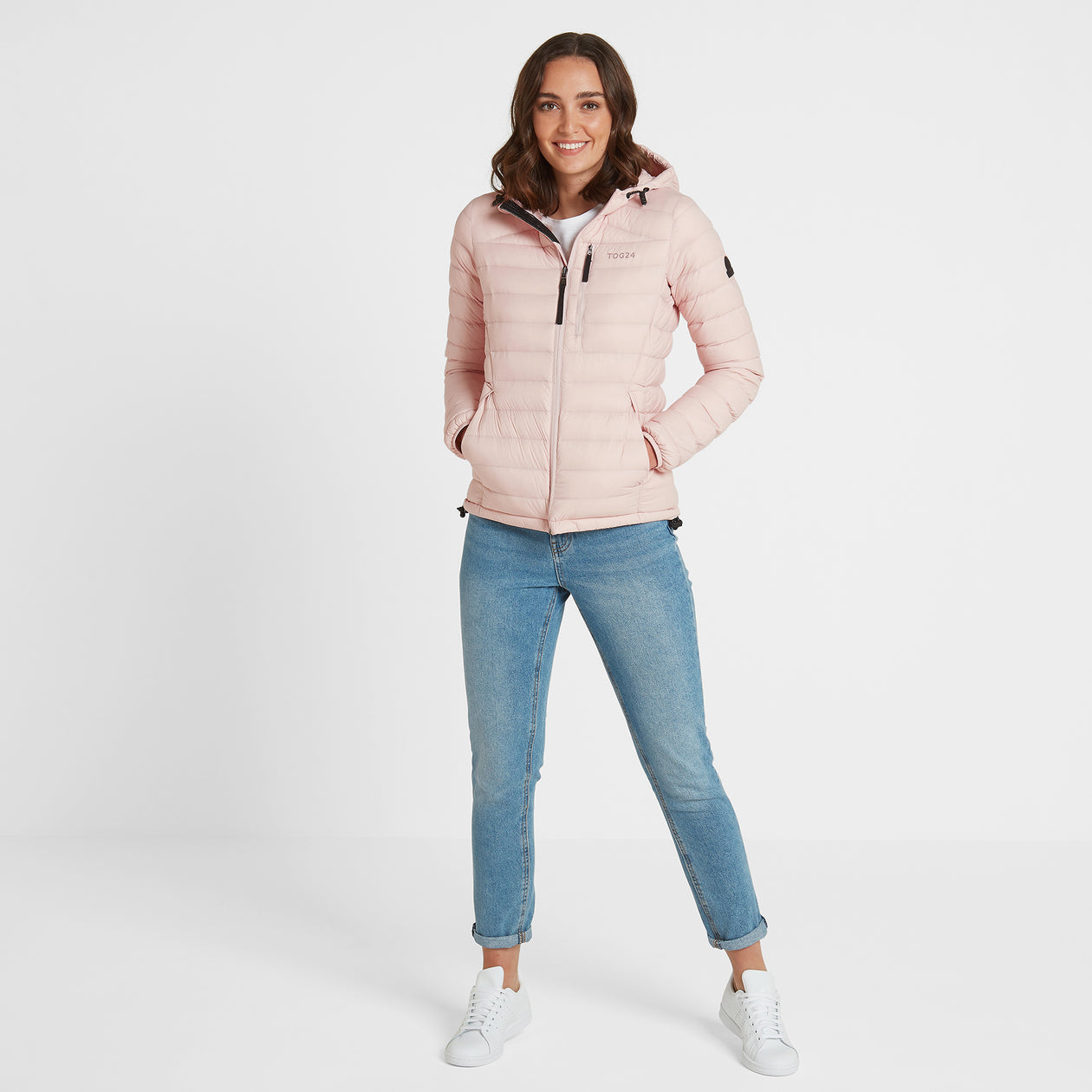 Base Womens Hooded Down Jacket - Rose Pink image 4