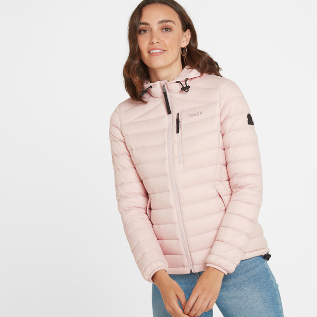 Base Womens Hooded Down Jacket - Rose Pink image 1