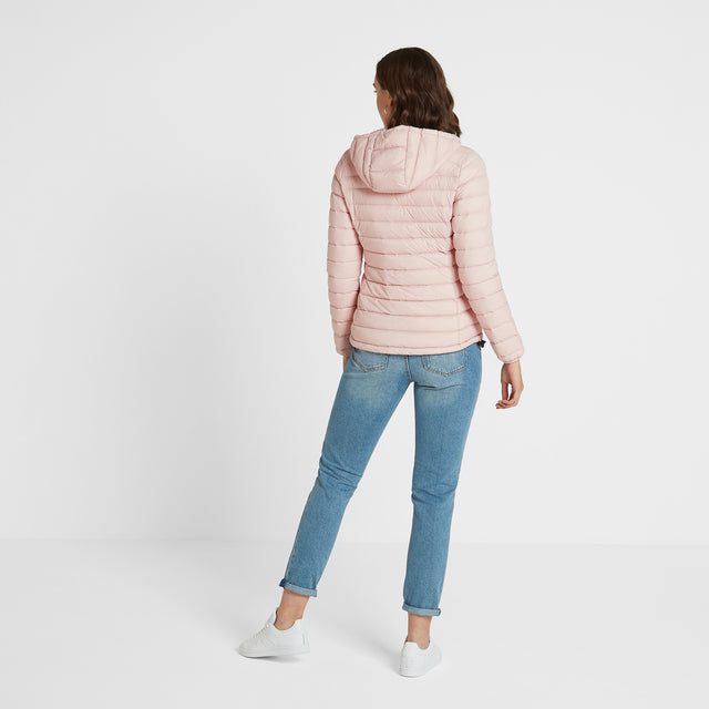 Base Womens Hooded Down Jacket - Rose Pink image 3