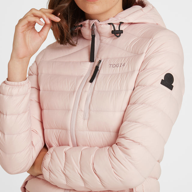 Base Womens Hooded Down Jacket - Rose Pink image 5