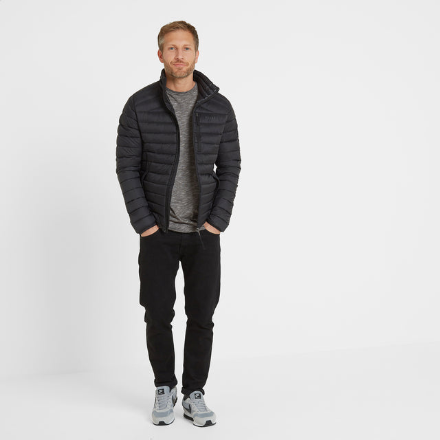 Base Mens Funnel Down Jacket - Coal Grey image 3