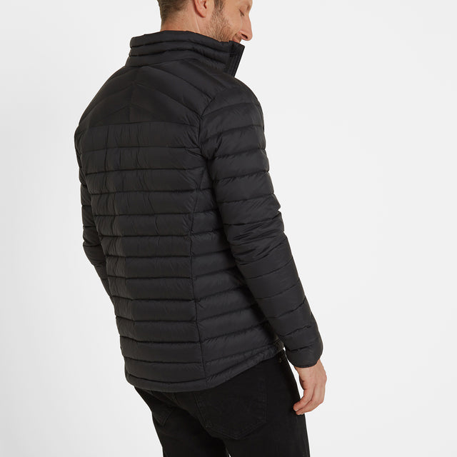 Base Mens Funnel Down Jacket - Coal Grey image 5