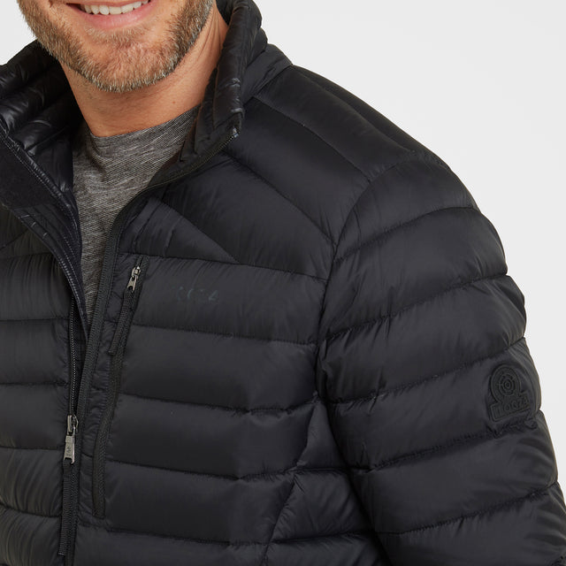 Base Mens Funnel Down Jacket - Coal Grey image 6