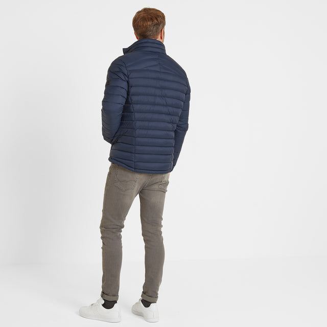 Base Mens Funnel Down Jacket - Dark Indigo image 3