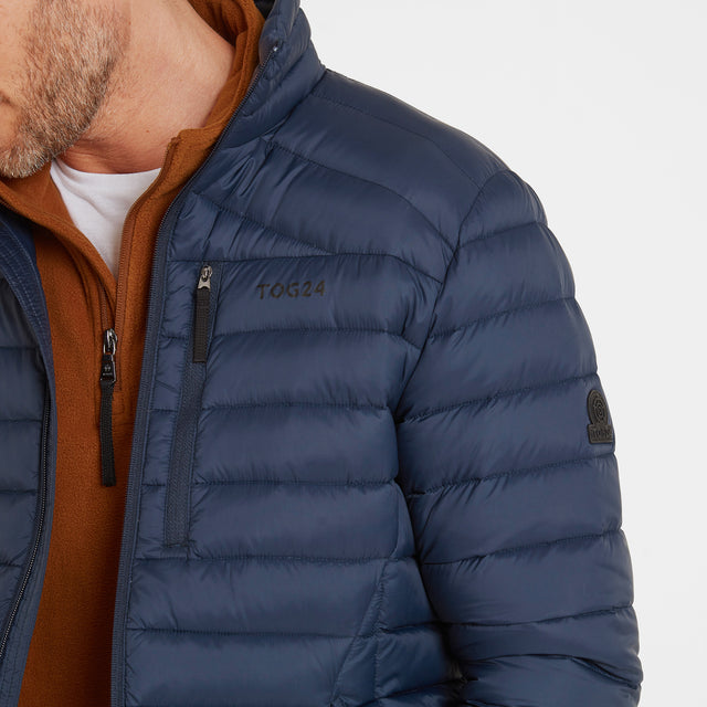 Base Mens Funnel Down Jacket - Dark Indigo image 5
