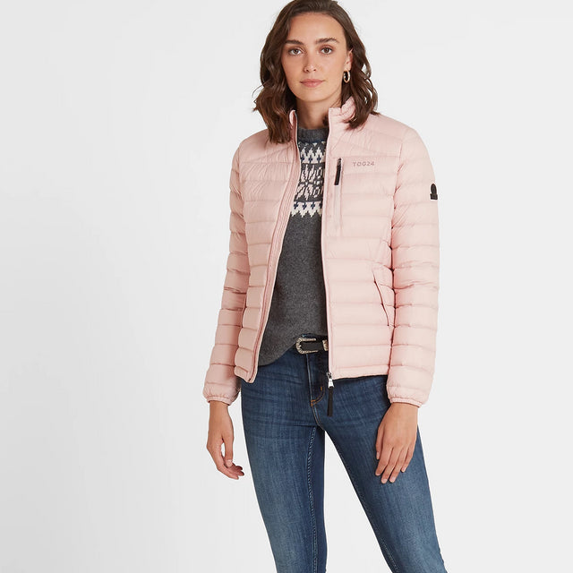 Base Womens Funnel Down Jacket - Rose Pink image 1