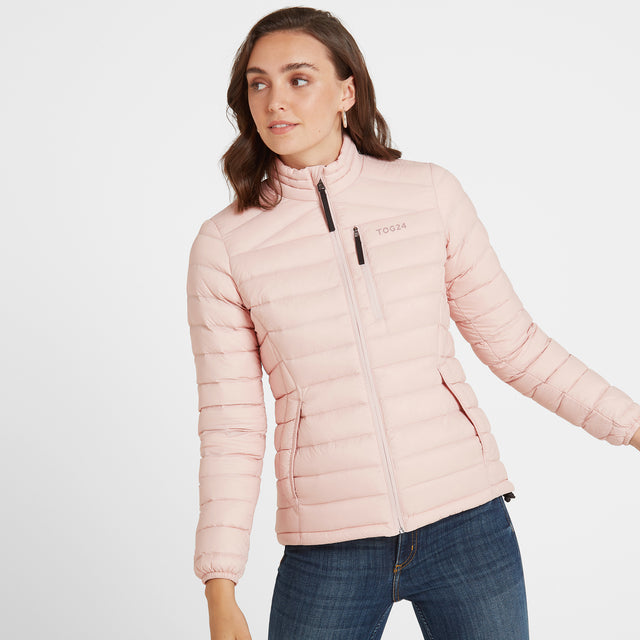 Base Womens Funnel Down Jacket - Rose Pink image 2