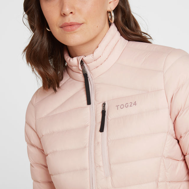 Base Womens Funnel Down Jacket - Rose Pink image 5