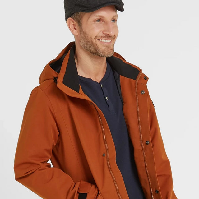 Beamsley Mens Waterproof Jacket - Amber image 1
