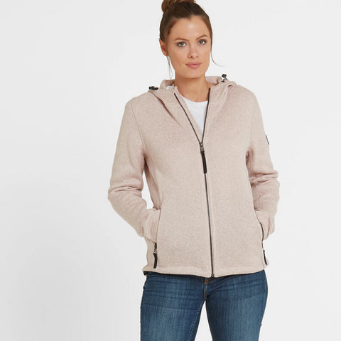 Cropton Womens Knitlook Fleece Jacket - Rose Pink