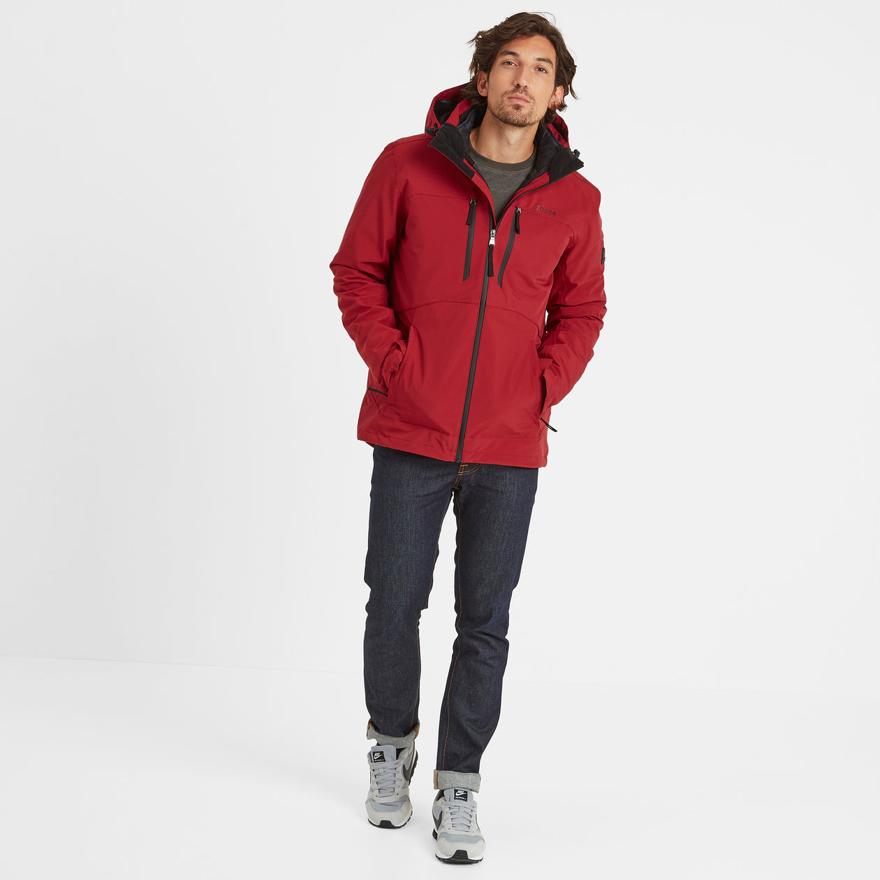 Denton Mens Waterproof 3-In-1 Jacket - Chilli Red image 4