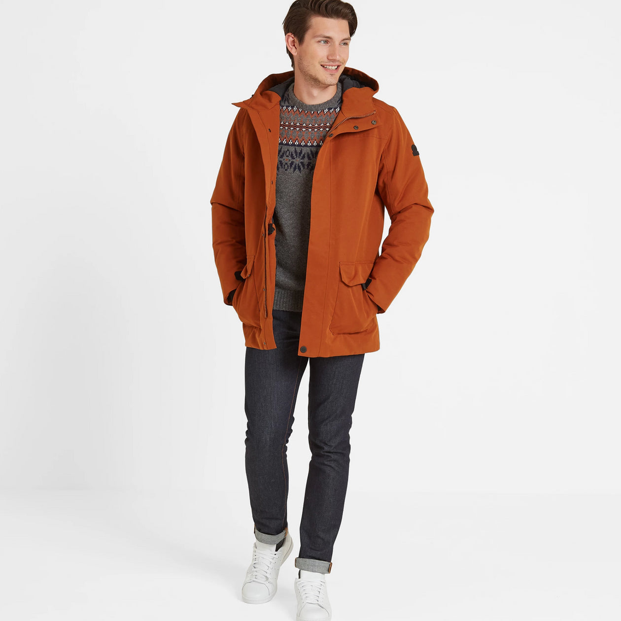 Dight Mens Waterproof Parka - Amber image 4