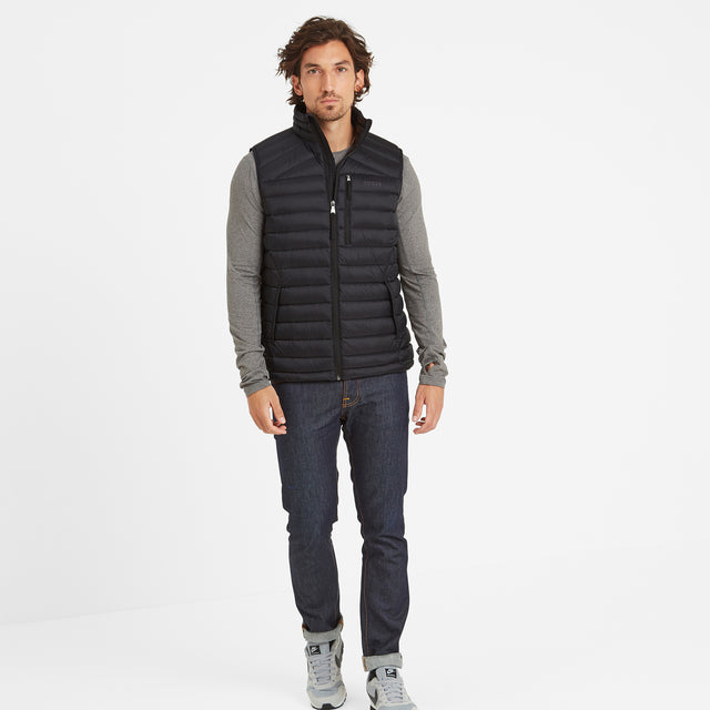 Drax Mens Down Gilet - Black image 2