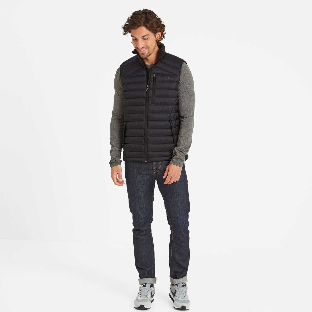 Drax Mens Down Gilet - Black image 4