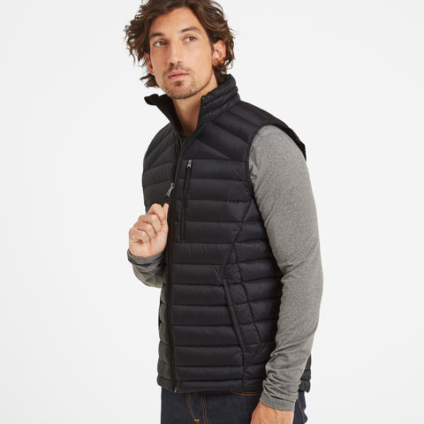 Drax Mens Down Gilet - Black