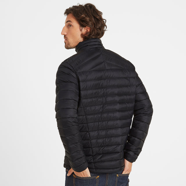 Drax Mens Funnel Down Jacket - Black image 2
