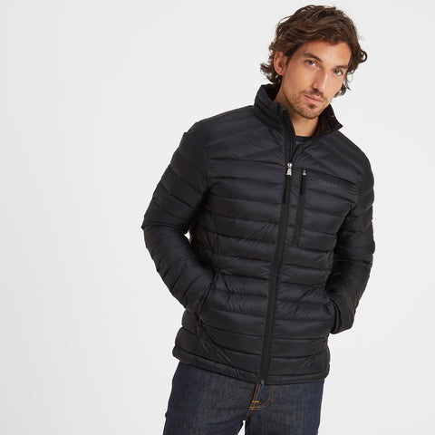 Drax Mens Funnel Down Jacket - Black