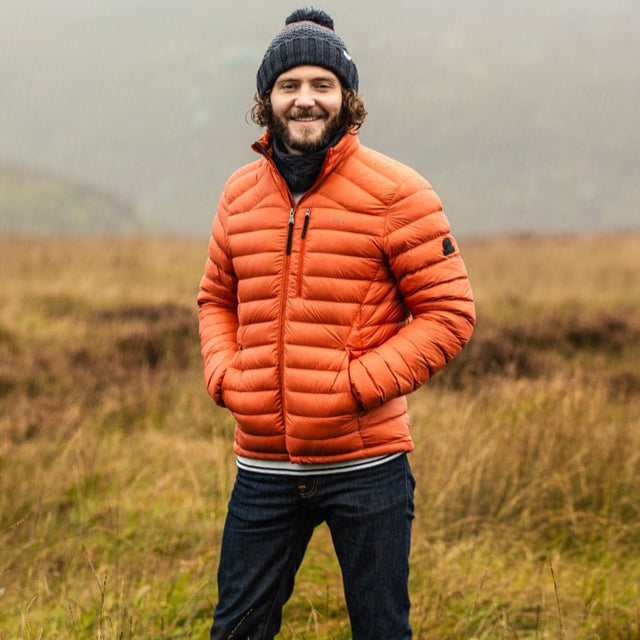 Drax Mens Funnel Down Jacket - Burnt Orange image 6