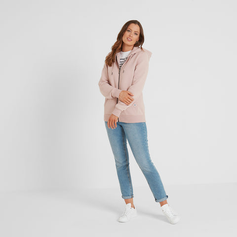 Erin Womens Zip Hoody - Rose Pink