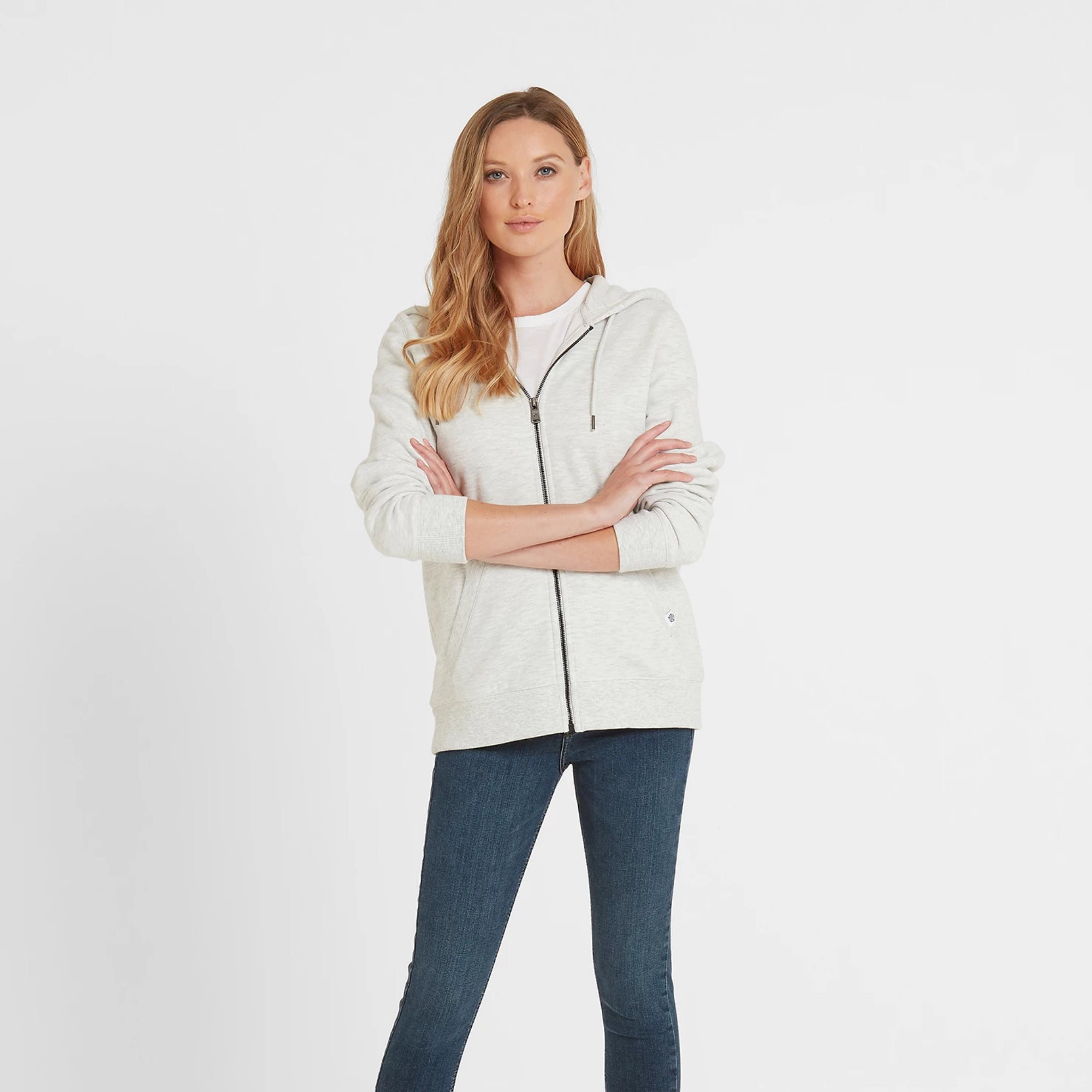 Erin Womens Zip Hoody - Ice Grey Marl