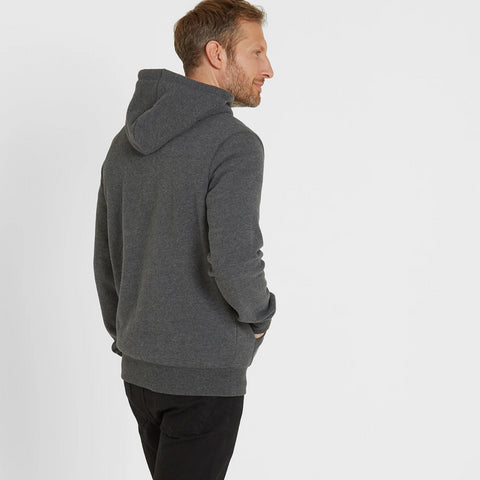 Frewin Mens New Sherpa Hoody - Dark Grey Marl