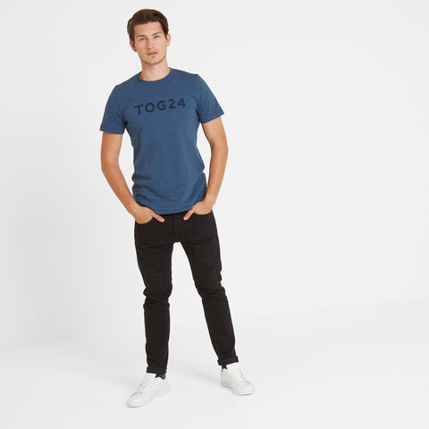 Hirst Mens T-Shirt - Denim